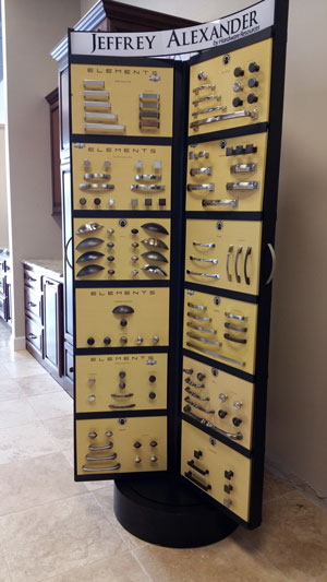 Cabinet Knobs and Pulls Standing Display