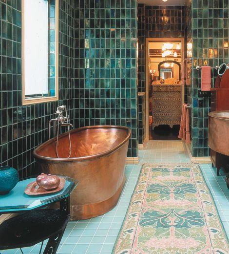 copper tub bathroom portland cabinet cures