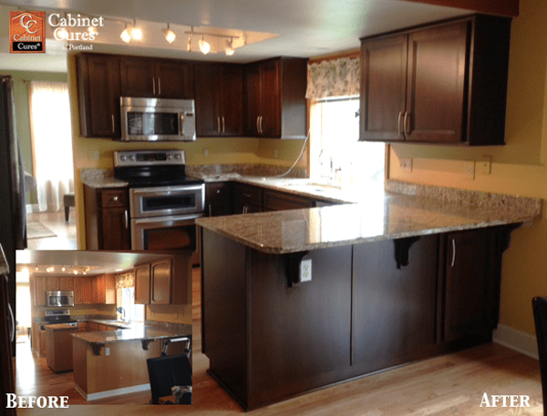 brown kitchen cabinet refacing portland cabinet cures