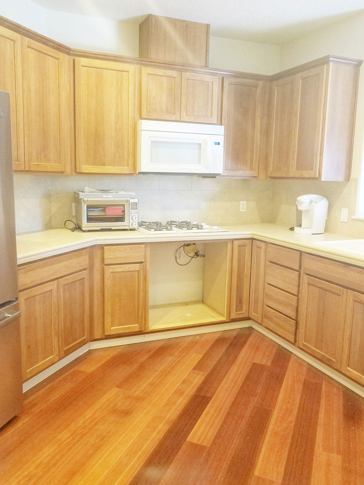 Old brown cabinets