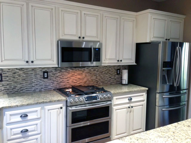 White Cabinet Refacing by Cabinet Cures