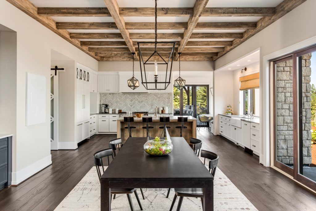 Reclaimed barn wood has been a kitchen design trend for a few years