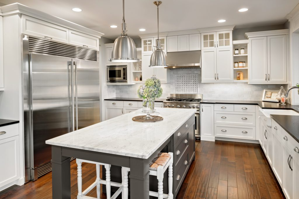 White cabinets are always considered a kitchen design trend!