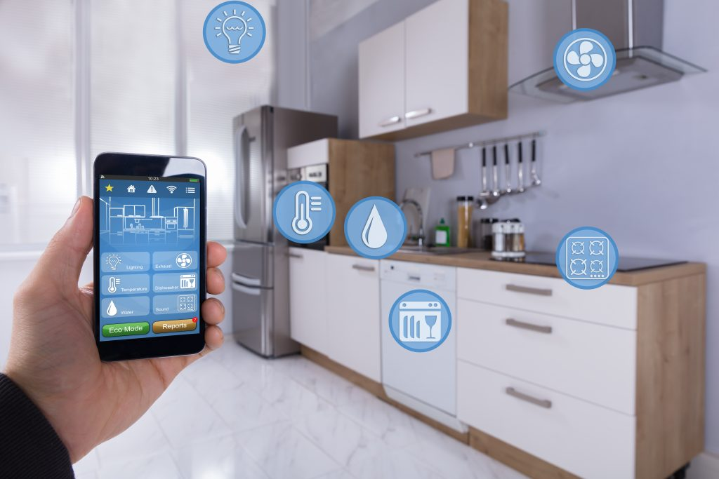 You can sync your phone and connect with many compatible appliances in a smart kitchen!
