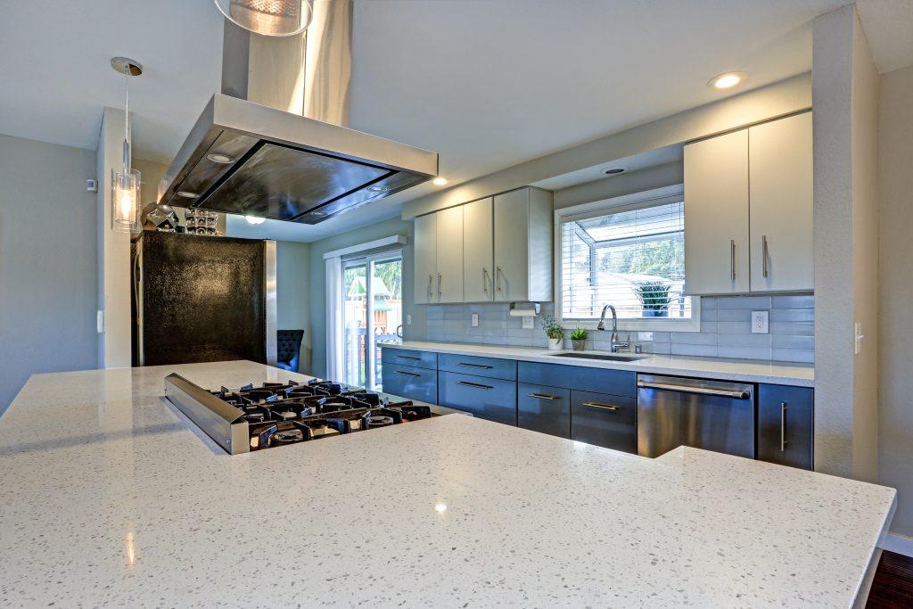 A large quartz countertop