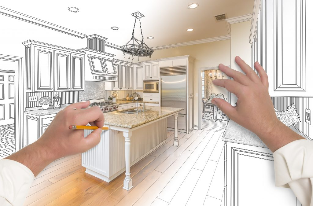 Think about the layout for your new cabinets before you start a project.