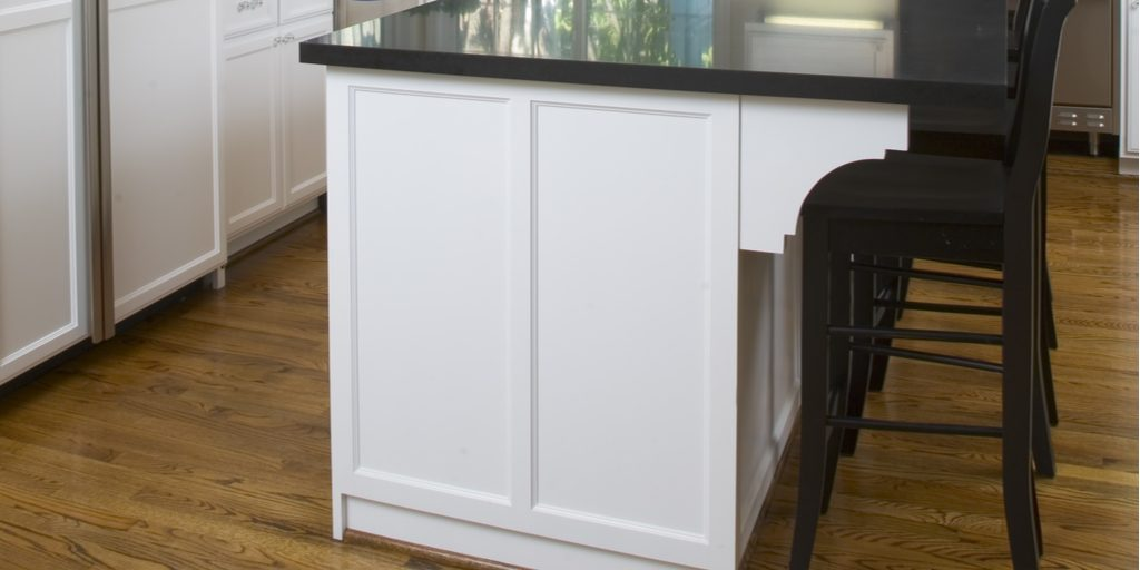 Large counter top over hang means large corbels are needed!