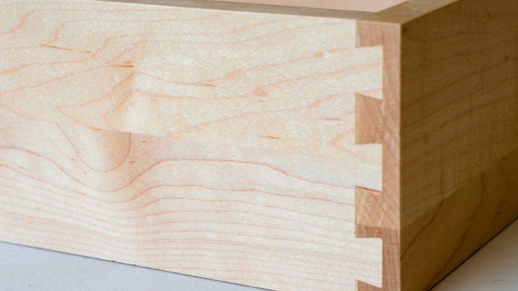 A dovetail drawer box