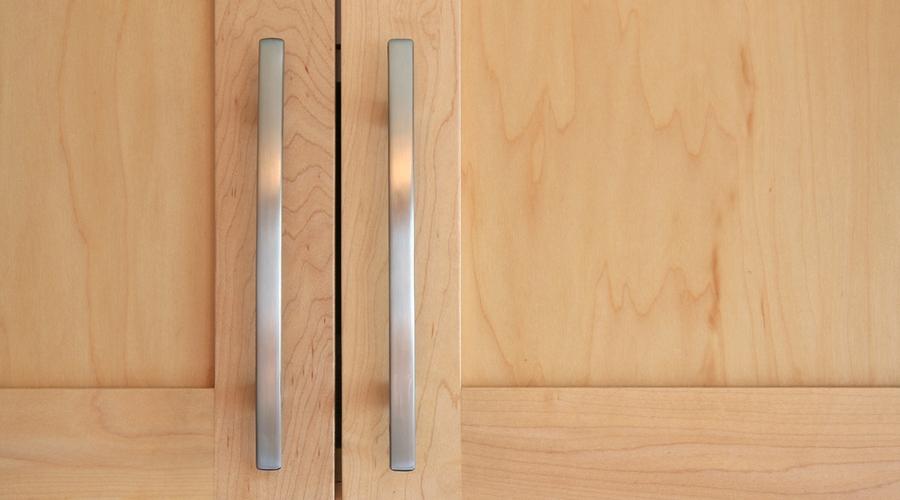 Natural maple wood cabinet doors